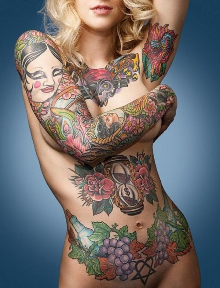 A Naked Full Body Tattoo